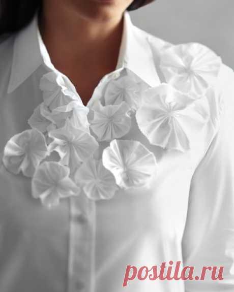 Декор белой блузки (DIY) +2 / Блузки / ВТОРАЯ УЛИЦА