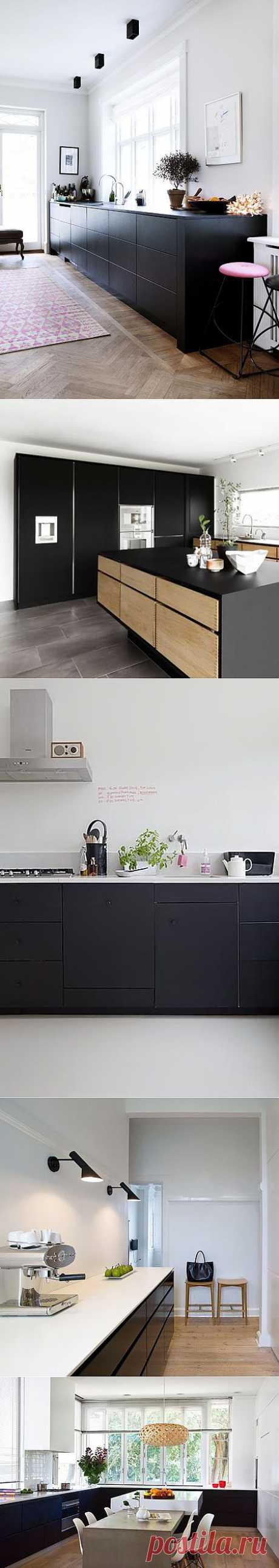7 оригинальных идей дизайна черной кухни | Идеи для кухни
