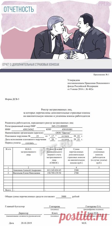 ДСВ-3: образец заполнения формы 2019