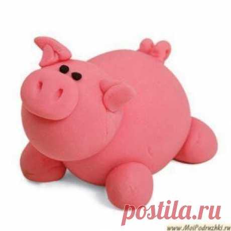 Как сделать свинью/ кабана/ поросенка из полимерной глины?