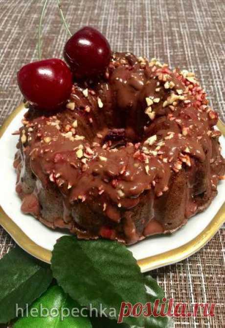 Шоколадный кекс с вишней без муки и сахара. - Хлебопечка.ру