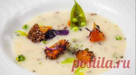 Крем-суп из топинамбура с печеной тыквой, пошаговый рецепт с фото