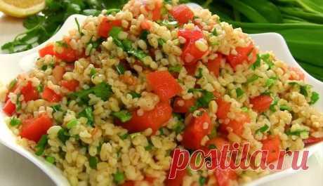 Постный Супер Салат с булгуром и овощами на каждый день! Вкусно, сытно и диетически!