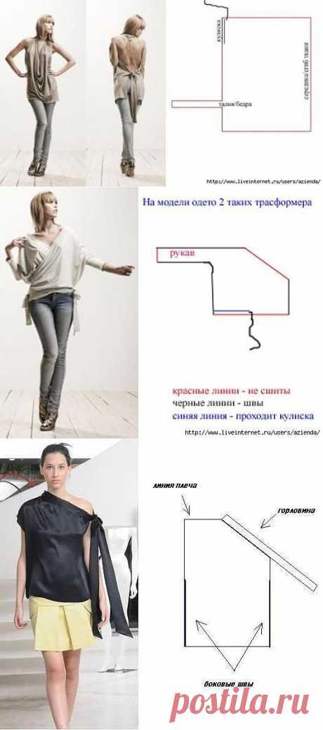 Невероятно простые выкройки (большая подборка) / Простые выкройки / Модный сайт о стильной переделке одежды и интерьера