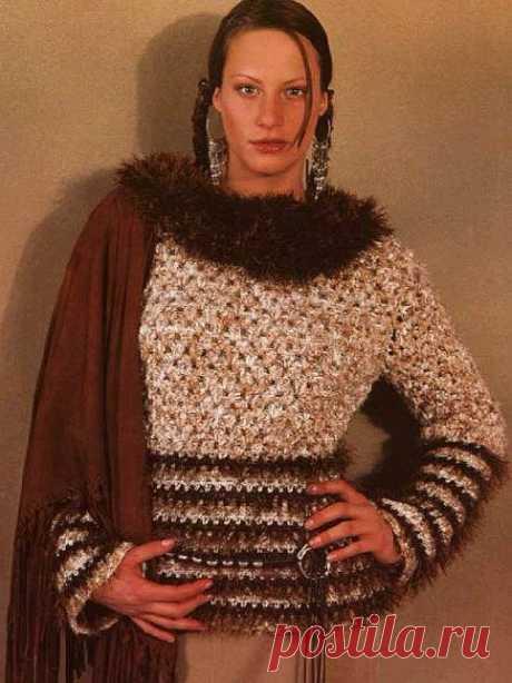 "Пуловеры крючком - мои любимые модели из ""Маленькой Дианы""   Левреткоман-оч.умелец   Яндекс Дзен"