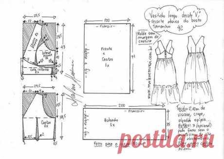Выкройка летнего сарафана. Размеры евро от 42 до 48 (Шитье и крой) – Журнал Вдохновение Рукодельницы