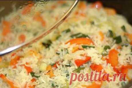 Диетический овощной плов для красивой фигуры и вкусного обеда на вашем столе