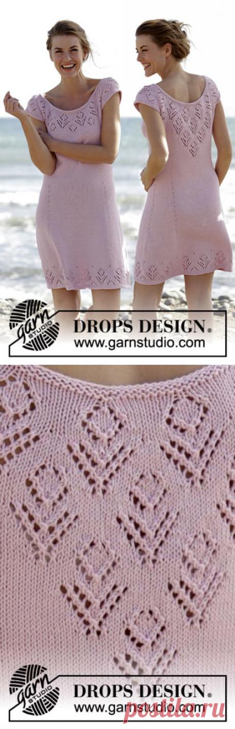 Платье розовое ажурное   Вязание от А до Я