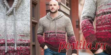 Хочу связать ленивый мужской свитер. | Марусино рукоделие | Яндекс Дзен