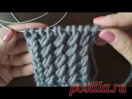 Diagonal Stitch / Красивый узор РЕЗИНКА С КОСЫМИ ПЕТЛЯМИ