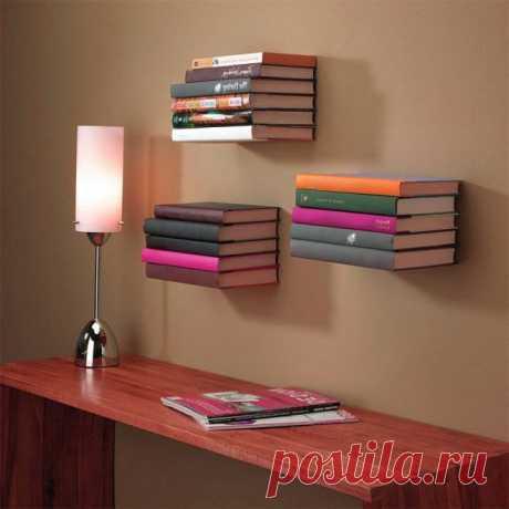 Где хранить книги если нет полок: идеи на фото