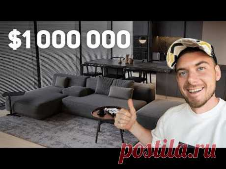 Обзор квартиры за $1 000 000 в Москва-Сити, на 79 этаже