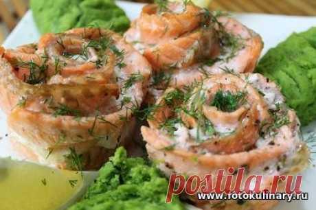 Розочки из красной рыбы - Вторые блюда - Кулинарные рецепты ! - ФотоКулинария