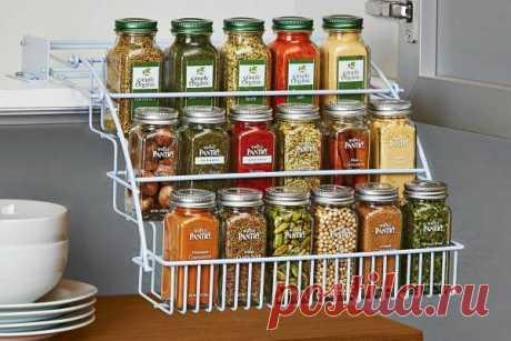 Хранение специй на кухне: идеи, сроки хранения молотых специй, в чем хранить (контейнеры, пакеты, баночки, место в холодильнике)
