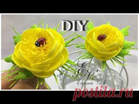 СОЛНЕЧНЫЙ ПОЗИТИВЧИК делаем сами  КУПАЛЬНИЦЫ  ЖАРКИ  для начинающих фоамиранозависимых  flowers DIY