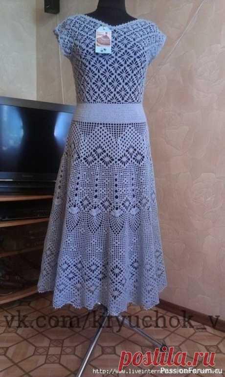 Два красивейших платья крючком | Женская одежда крючком. Схемы и описание