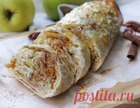 «Ленивый» полезный штрудель. Ингредиенты: яблоки голден, творог 5%, пшеничные отруби