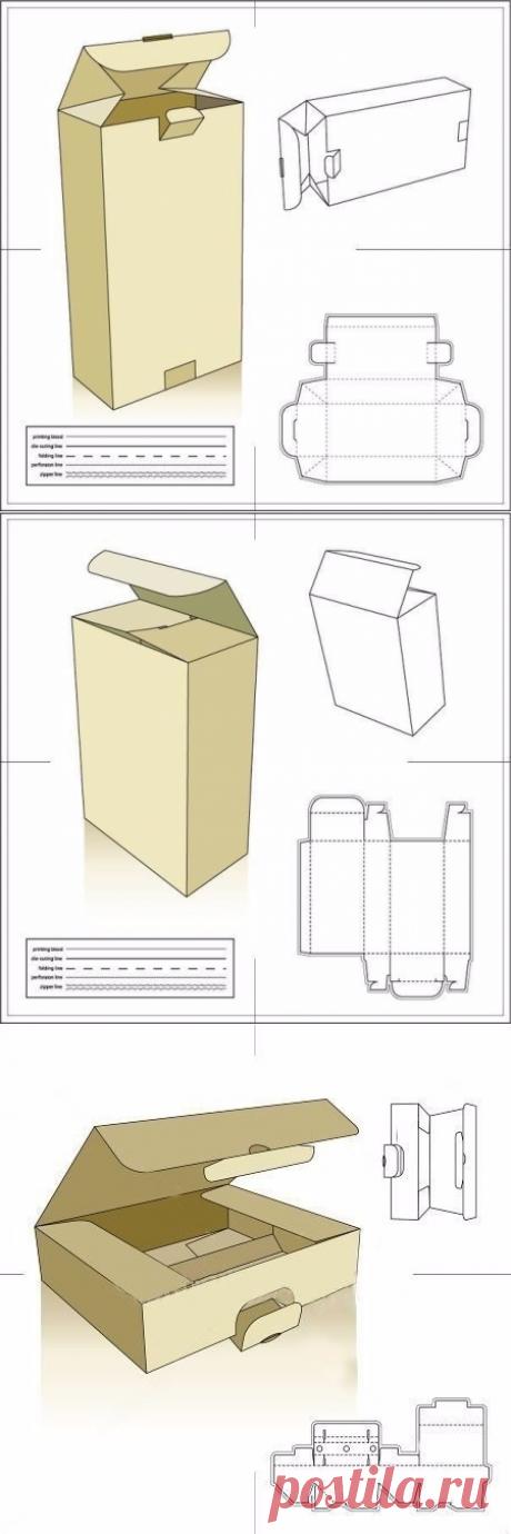 Развороты всяких-разных коробочек - в копилку