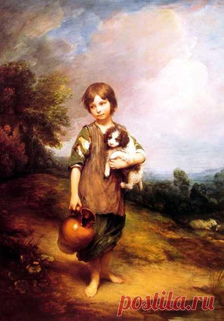 Дети и животные в изобразительном искусстве, ч.2 – Блог. Run, пользователь Марина Николаева   Группы Мой Мир