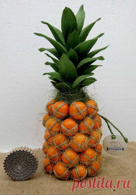 Цитрусовая бутылка в виде ананаса — DIYIdeas