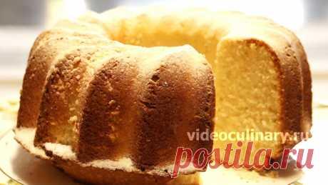 Лимонный кекс, нежный и ароматный – рецепт Бабушки Эммы