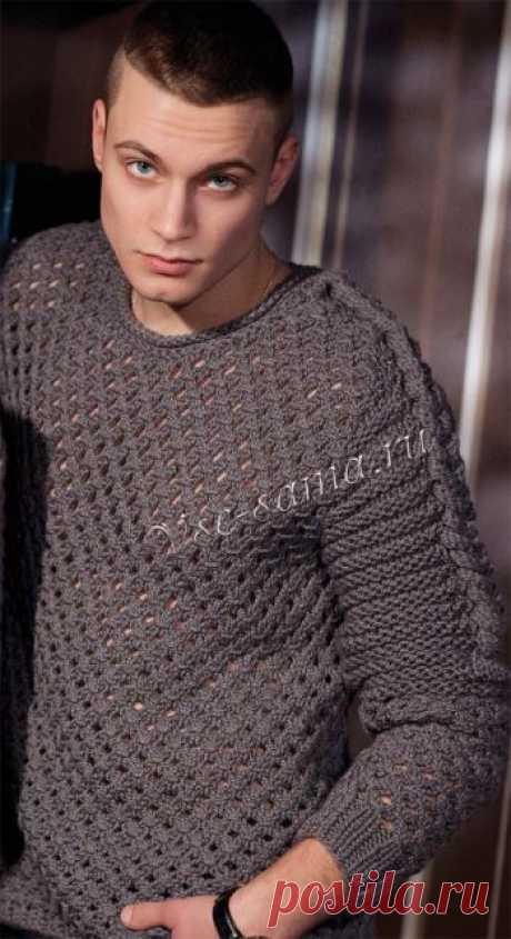 Мужской свитер - Гладиатор - Мужские пуловеры, свитера, джемпера спицами