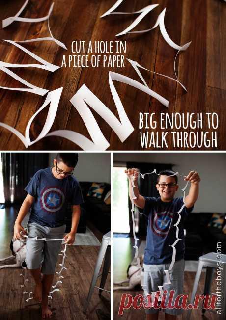 Быстрый трюк: пройти через лист бумаги