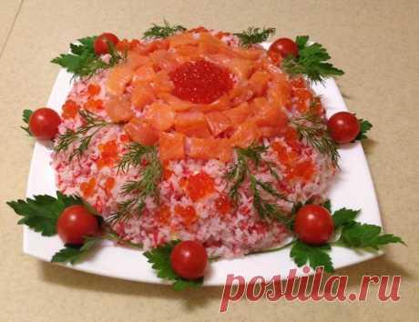 Праздничный слоёный салат «Самоцветы». Пошаговый рецепт с фото — Ботаничка.ru