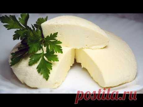 Сыр за 10 минут из молока + Время на стекание сыворотки ☆ Как приготовить сыр в домашних условиях