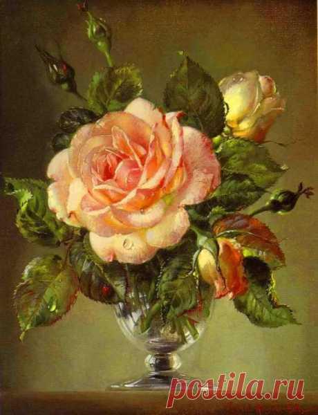 розы в маленькой прозрачной вазочке картины художников: 10 тыс изображений найдено в Яндекс.Картинках