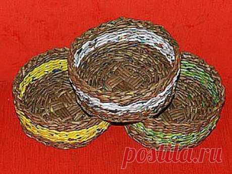 МК по плетению корзинки с плетеным круглым дном - Ярмарка Мастеров - ручная работа, handmade