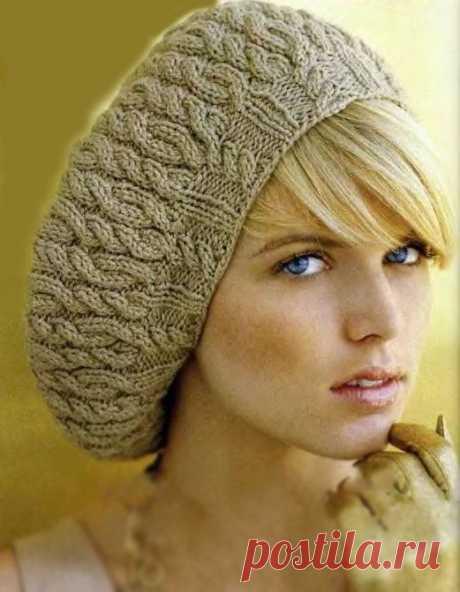 Берет с витыми узорами (Вязание спицами) — Журнал Вдохновение Рукодельницы