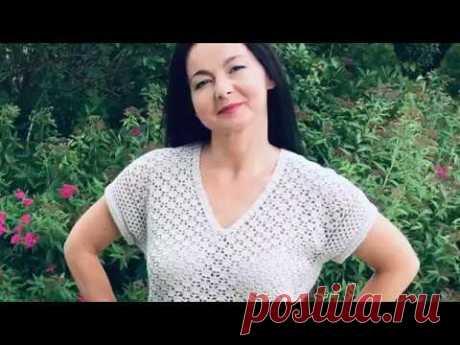 Женская футболка-топ крючком//Оверсайз//Экспресс Мк.