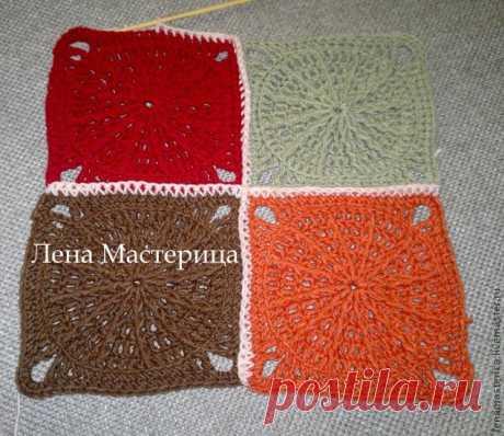 Рекомендации по соединению мотивов, выбора пряжи и крючков для вязания пледа - Ярмарка Мастеров - ручная работа, handmade