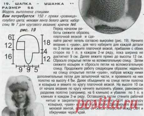 Теплые вязаные шапки с красивой отделкой мехом (Вязание спицами и крючком) — Журнал Вдохновение Рукодельницы