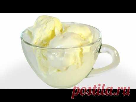 """Мороженое пломбир """"Проще простого"""" из трех ингредиентов. Без перемешивания. Пошаговый видео рецепт."""