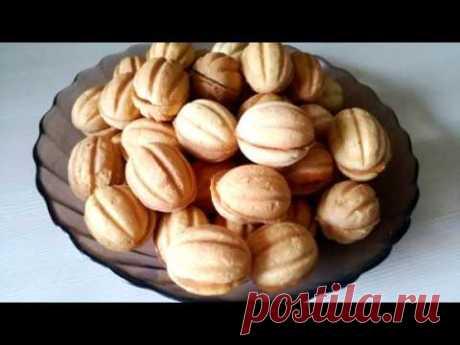 Как сделать хрустящие орешки со сгущенкой