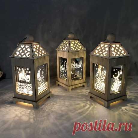 Liviorap светодиодный свет Праздничные фонарики Happy ИД Мубарак 2020 украшения на Рамадан для дома исламский мусульманский вечерние поставки|Украшения своими руками для вечеринки| | АлиЭкспресс