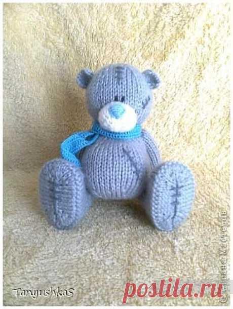 Мишка Тедди - вязание спицами, описание схем / Вязание игрушек на спицах и крючком, схемы и описание / КлуКлу. Рукоделие - бисероплетение, квиллинг, вышивка крестом, вязание