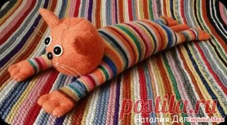 Апельсиновый котик спицами - Вязание - Страна Мам