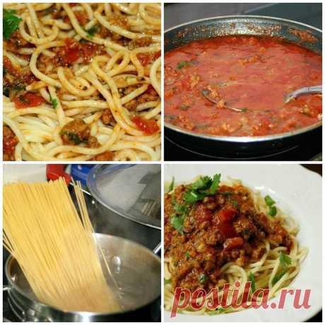 """Спагетти """"А-ля Болоньезе"""" ᅠ ᅠ📌 Ингредиенты: ᅠ ᅠ ᅠ🔸1 уп. спагетти ᅠ ᅠ🔸0,5 кг фарша (любого, по вкусу, я брала говяжий) ᅠ ᅠ🔸3-4 помидора ᅠ ᅠ🔸2-3 луковицы ᅠ ᅠ🔸2 зубчика чеснока ᅠ ᅠ🔸1 стакан томатного сока ᅠ ᅠ🔸майоран, орегано, базилик ᅠ ᅠ🔸растительное масло ᅠ ᅠ🔸соль ᅠ ᅠ🔸перец ᅠ ᅠ🔸зелень кинзы, петрушки ᅠ ᅠ🔸100 гр. натертого сыра"""