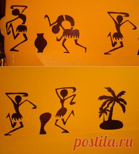 Африканские трафареты, рисунки