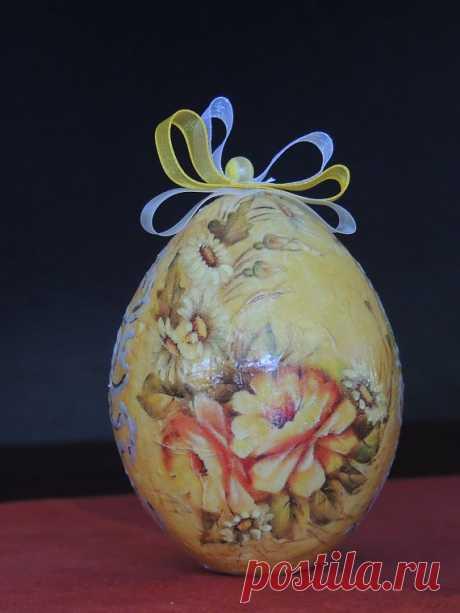 Декоративное яйцо из папье-маше / Декупаж. Мастер-классы / PassionForum - мастер-классы по рукоделию
