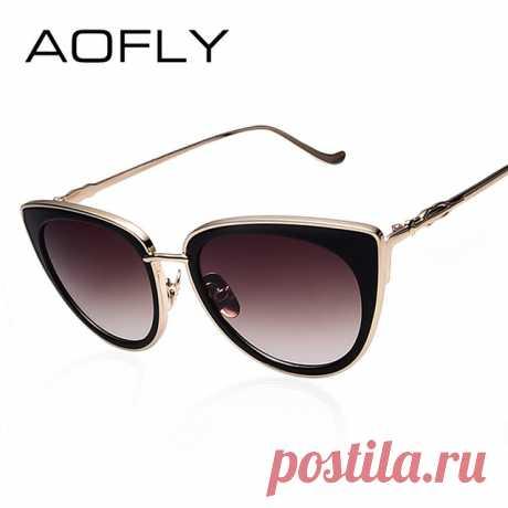 7c9e4cdd2dc AOFLY металлические Рамка кошачий глаз Для женщин Солнцезащитные очки  женские Солнцезащитные очки Известный Брендовая Дизайнерская обувь