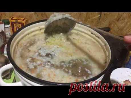 Чем кормить щенков САО: каша рисовая с требухой и овощами.