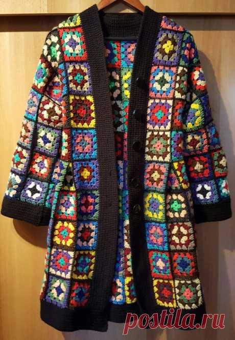 Pattern Granny Square Crochet Jacket - CRAFTS LOVED