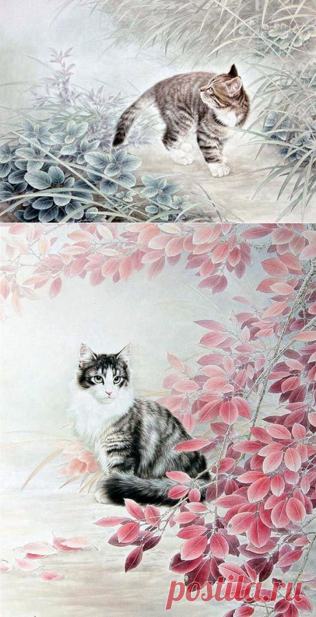 Любимые кошки художника  Xing Chengai  (Китай)