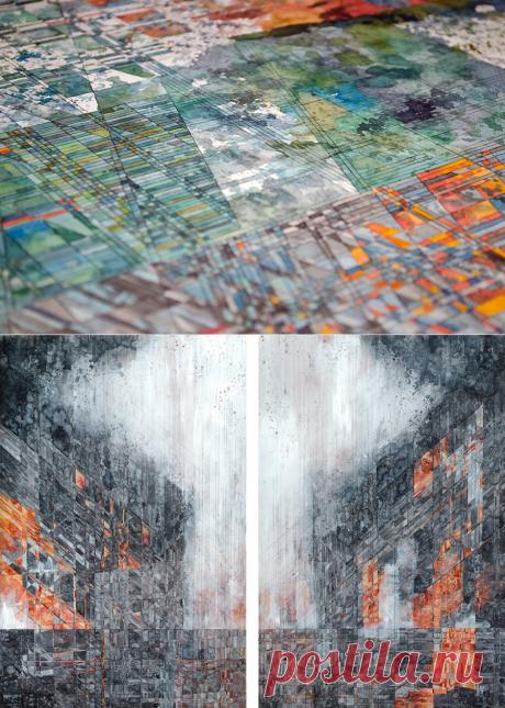 Geometric Watercolors by Artist Jacob Van Loon – DIY & Craft
