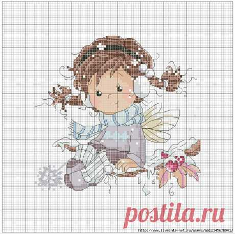 Маленькие феи, вышивка крестом. Картины для детской.
