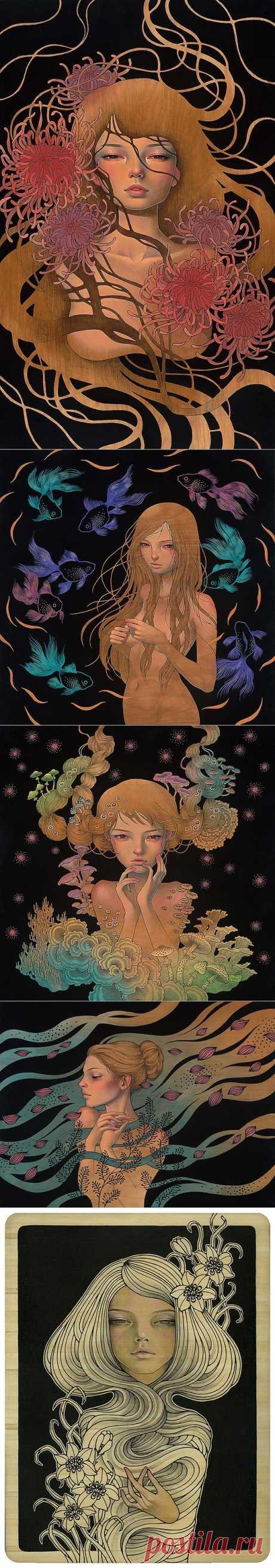 ФотоТелеграф » Новые картины японской художницы Audrey Kawasaki